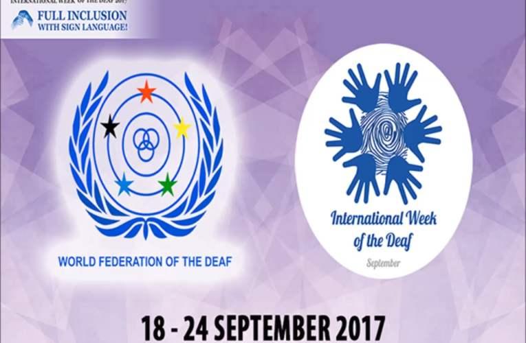 International Week of the Deaf 2017 – President's Message