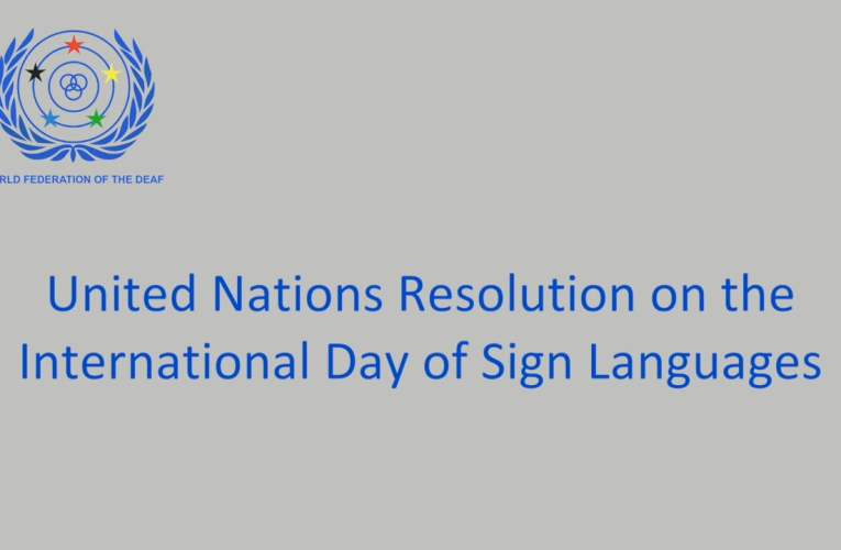 United Nations Resolution on the International Day of Sign Languages