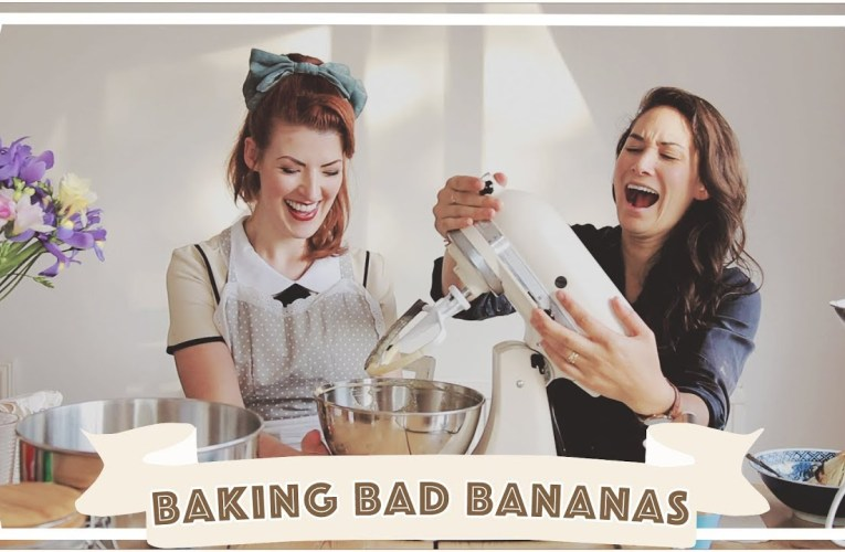 Baking Bad with Jessie and Claud // Low FODMAP Banana Muffins [CC]