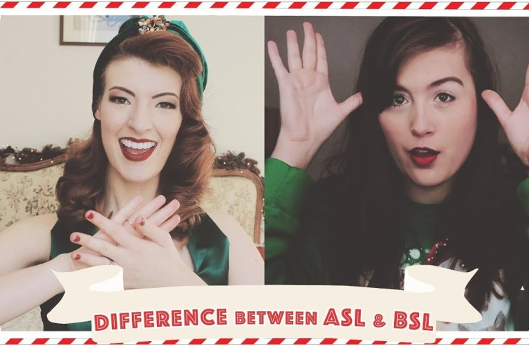 Comparing ASL & BSL Christmas Signs feat. Rikki Poynter // Vlogmas Day 19 [CC]