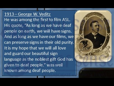 Deaf American History Timeline