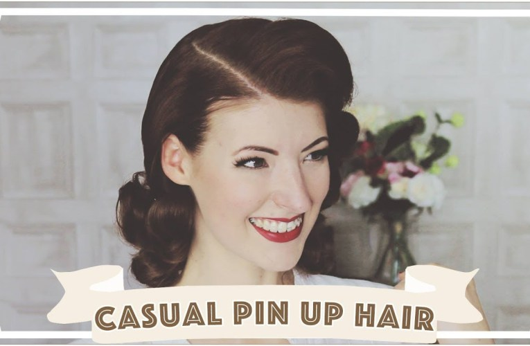 Casual Pin Up Hair // How To Curl Your Hair