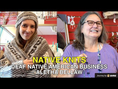 """Deaf Native American-owned business: """"Native Knits"""" By Aletha Ballew"""