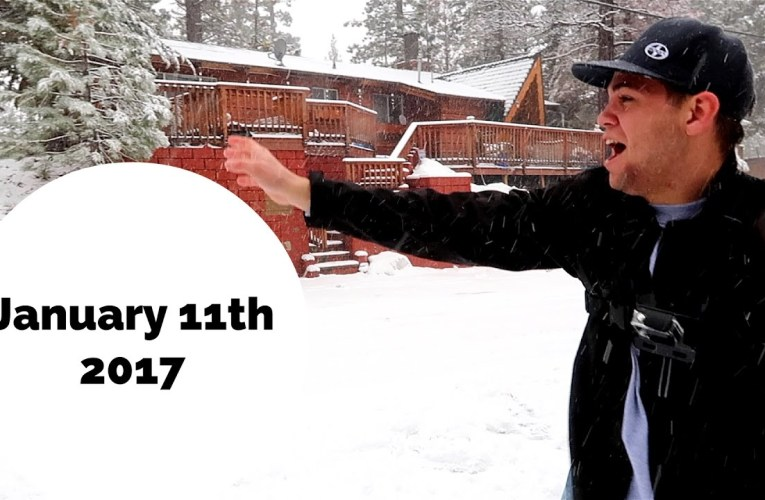 It SNOWED at Our Big Bear Cabin!