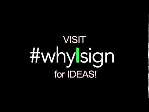#whyIsign sneak preview!!  Campaign Partnership Announcement