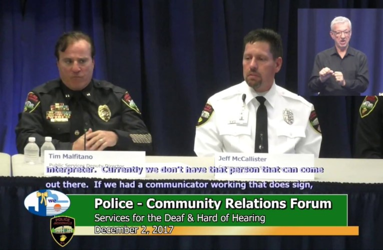 Police–Community Relations Forum: Services for Deaf & Hard of Hearing – December 2, 2017