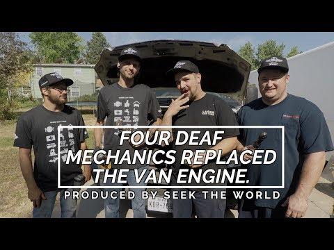 Story: Four Deaf Mechanics Replaced Sprinter Van's Engine!