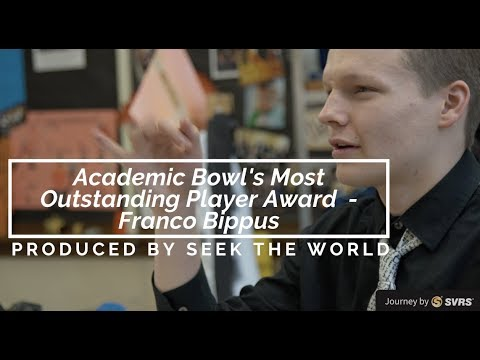 Gallaudet Academic Bowl's Most Outstanding Player Award in a Second Row – Franco Bippus