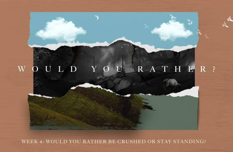 5/19/19  Would You Rather Be Crushed  or Stay Standing
