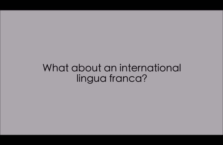 11. What about an international lingua franca? (WASLI/WFD FAQ on IS)