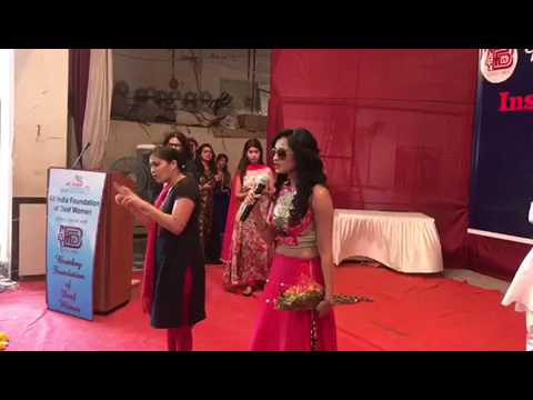 Harshali Zine Speech in Bombay foundation Of Deaf women