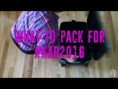 #NAD2016 — What To Pack