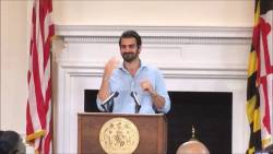 Governor Hogan presents Nyle DiMarco Citation
