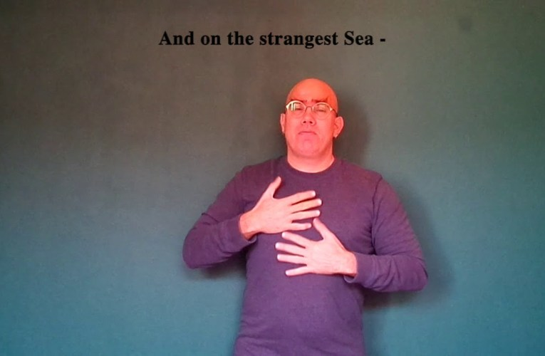 "Emily Dickinson's ""Hope is the thing with feathers"" translated into American Sign Language"