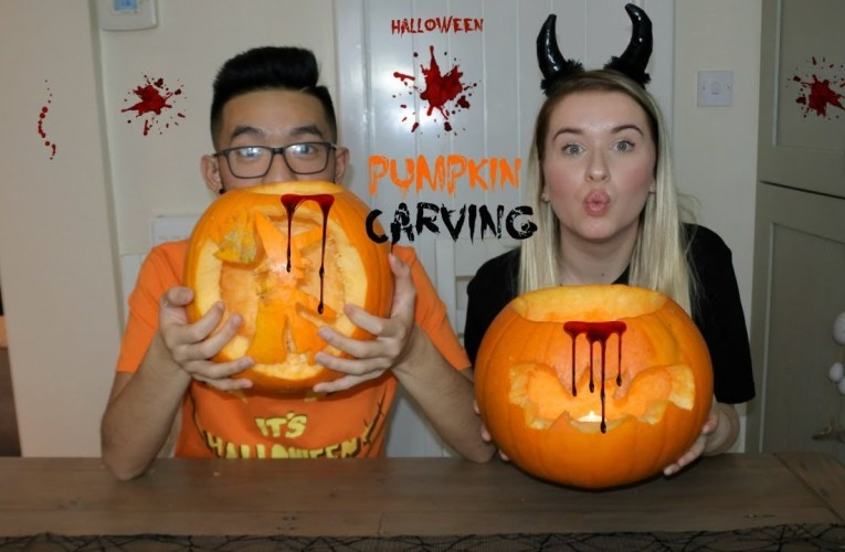 Pumpkin Carving With Benny 2017 | Jazzy