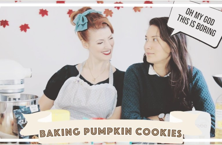 Bonding with my wife // Baking Bad with Jessie and Claud // Pumpkin Cookies (Low FODMAP) [CC]