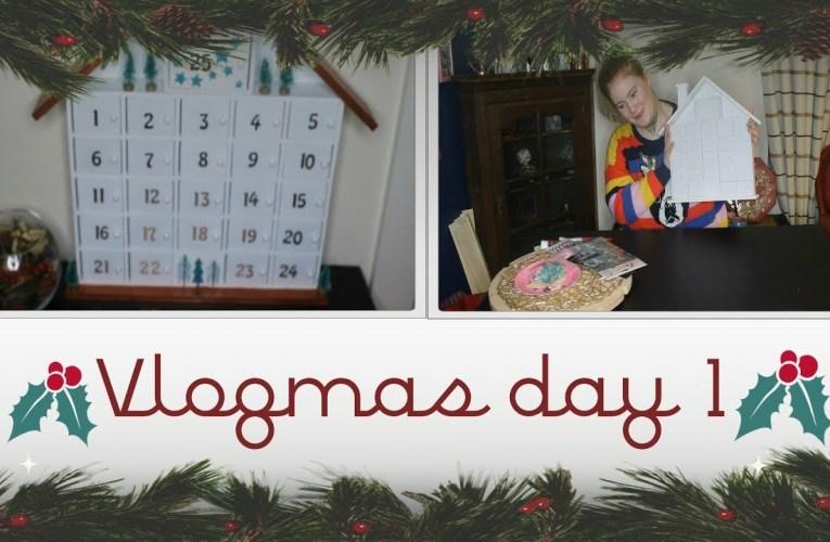 Decorating an Advent calendar|  VLOGMAS DAY 1