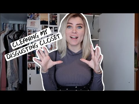 CLEANING MY DISGUSTING CLOSET
