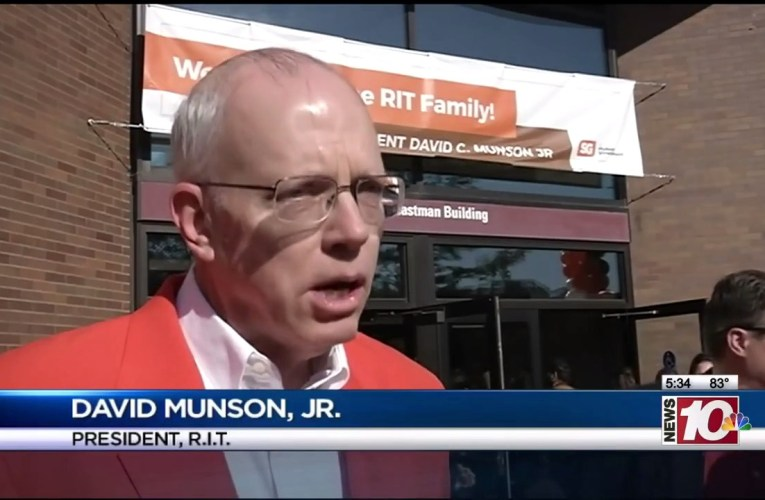 RIT on TV: Campus Community Welcomes President Munson