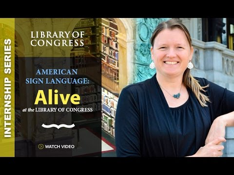 Internship Series 2015: Library of Congress with Swanhilda Lily