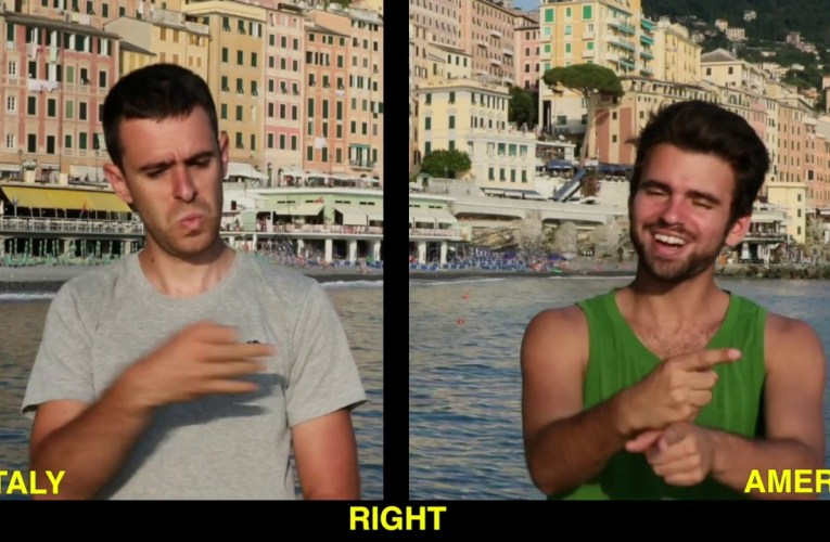 Italian Sign Language (LIS) & American Sign Language (ASL) in 48 Word Signs.