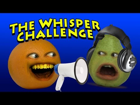 Annoying Orange – The Whisper Challenge (w/ Pear)