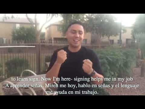 A hearing father shares his #whyisign story. Captioned in English and Spanish
