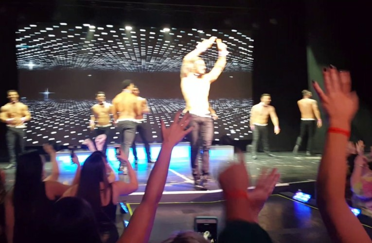 Chippendale with Nyle dimarco as a guest dancer's at rio