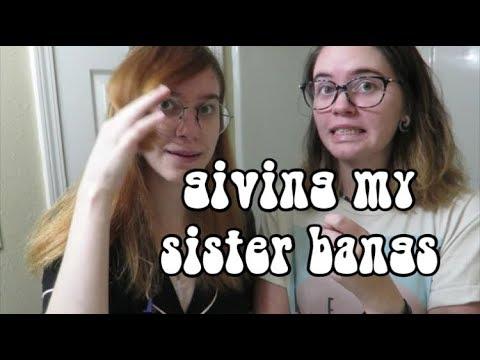 cutting my sisters hair