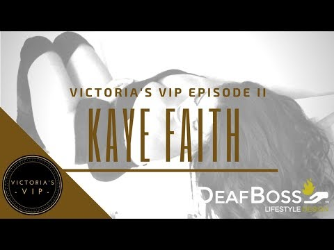 Victoria's VIP Interview with Kaye Faith Fernandez | Deaf Talent | DeafBoss