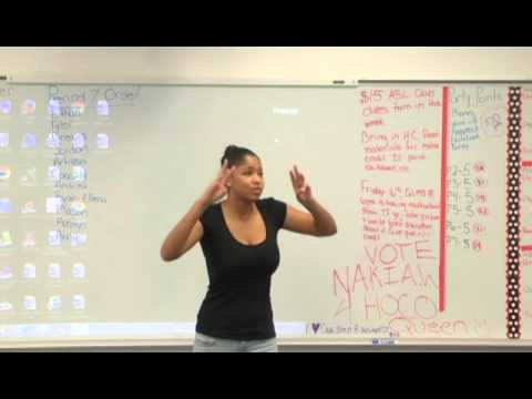 Fight Song ASL interpreted