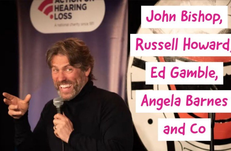 Laughing to Deaf comedy night, headlined by John Bishop