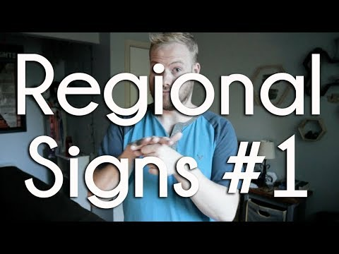Birthday, Strawberry, Garbage, Hospital, Pretend | Regional Signs