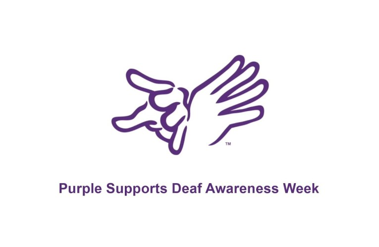 Purple Supports Deaf Awareness Week