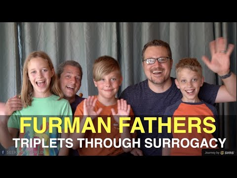 Furman Fathers and Their Triplets through Surrogacy