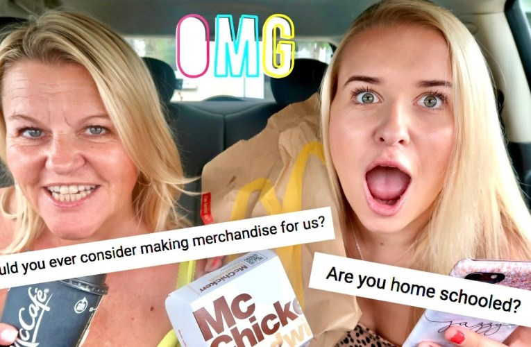 MCDONALD'S MUKBANG WITH MY MUM!! Was I Homeschooled, Making Merchandise For You All? & More!!