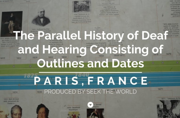 The Parallel History of Deaf and Hearing Consisting of Outlines and Dates