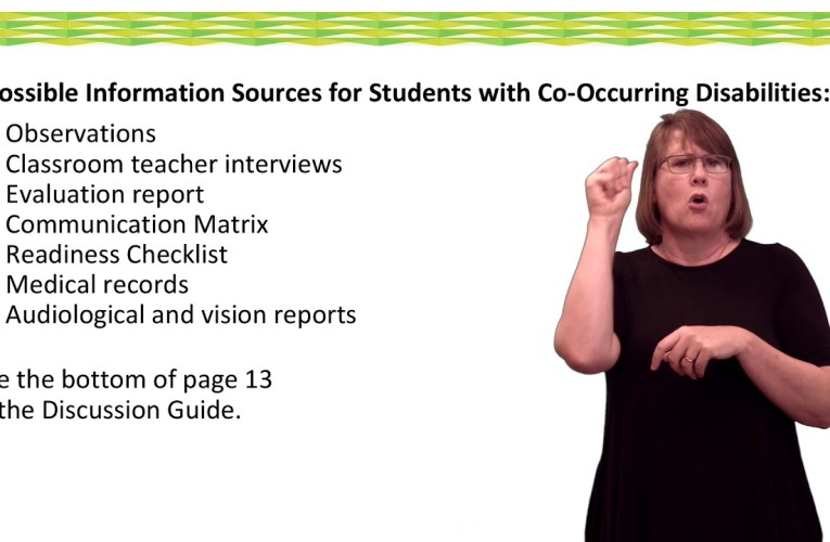 IEP Discussion Guide: Co-Occuring Disabilities