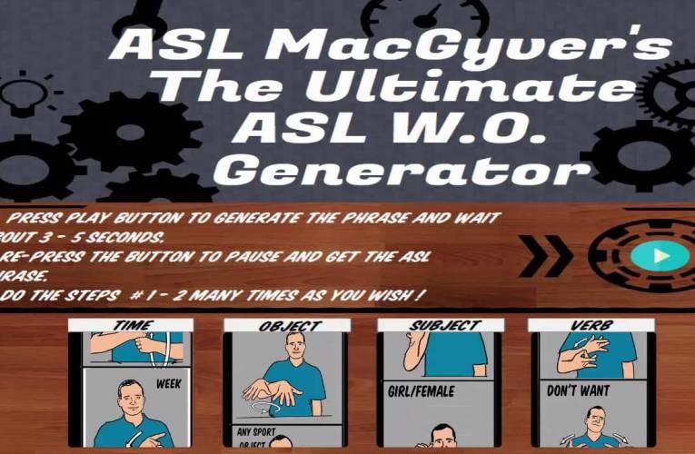 The ASL Word Order Generator