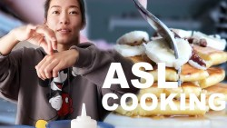 COOKING PANCAKES WITH SIGN LANGUAGE!