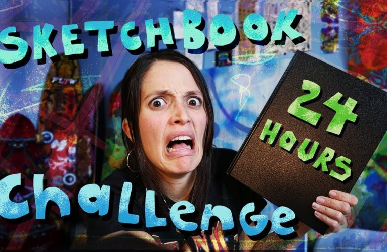 24 Hour Sketchbook Challenge ❤ Jessica Marie Flores ❤