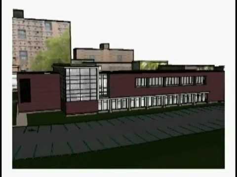 Computer renderings of Rosica Hall
