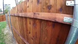 6 feet cedar with pre-stained fence in my backyard (time lapse)