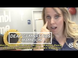 Half-Blind and Deaf, Aimee Pond, An Elite Gymnast Breaks Down Barriers!