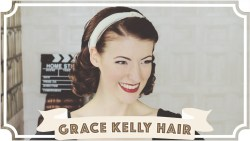 Grace Kelly Hair Tutorial // How To Curl Your Hair