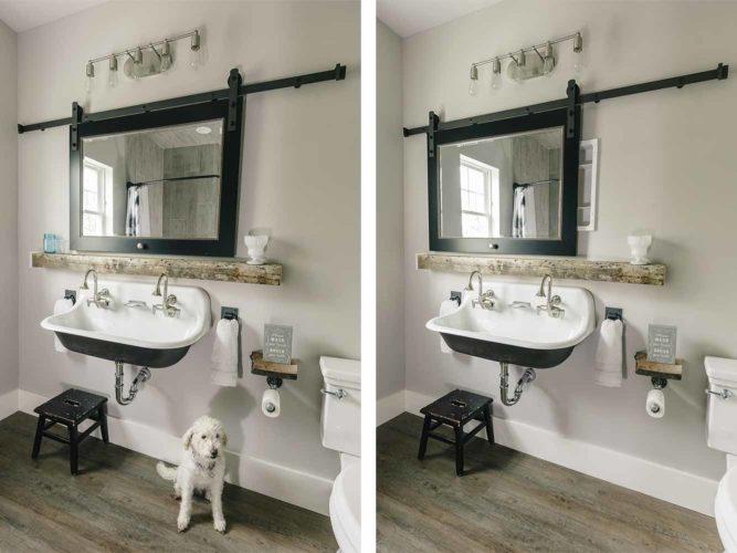 Chic Farmhouse Industrial Style Bathrooms In New Custom