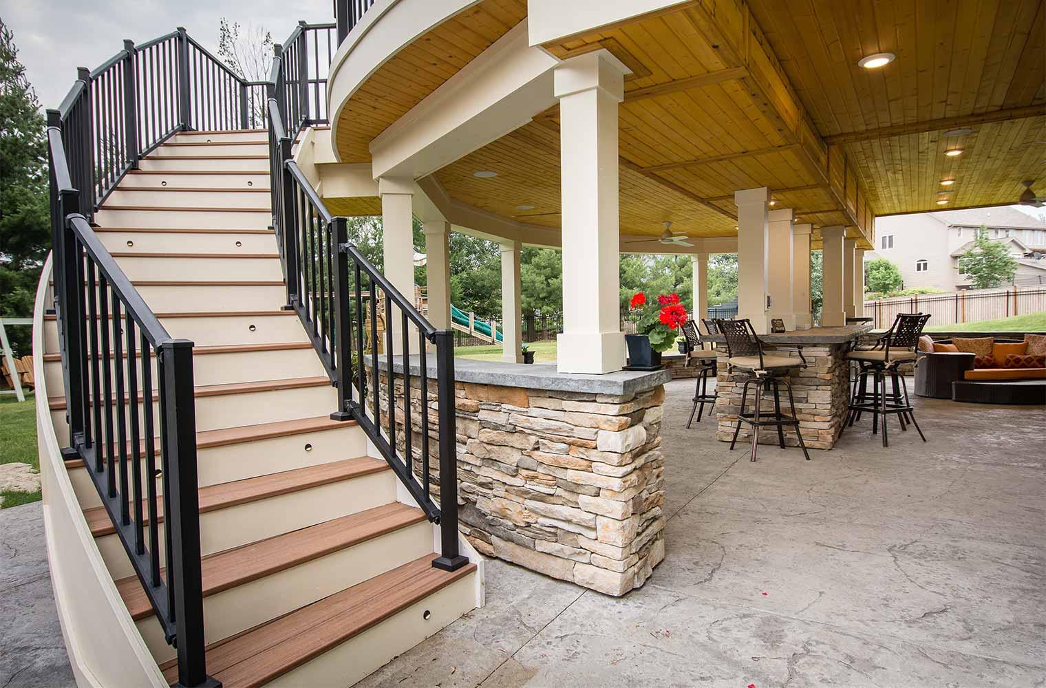 Backyard Renovation: Resort-like with Multiple Spaces, a ... on Backyard Patio Steps id=63319