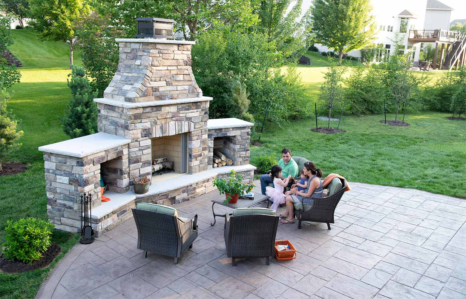 an urbandale home gets a distinguished deck and patio by silent rivers