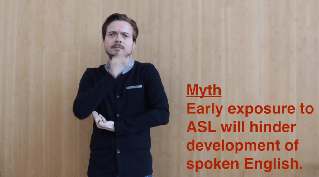 Early exposure to ASL does NOT hinder spoken language development Image