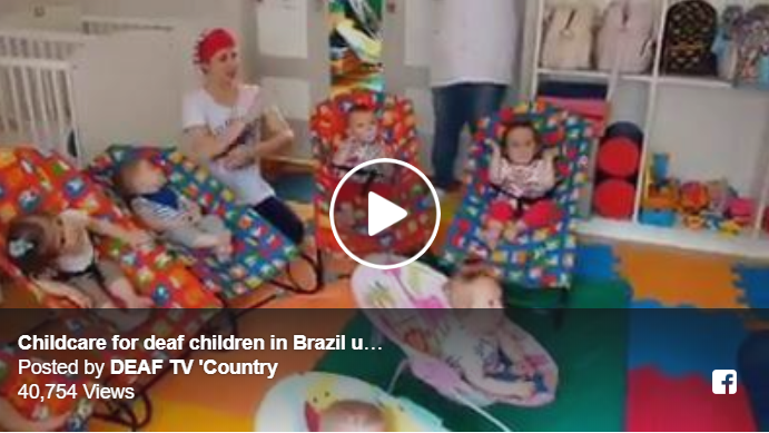 Childcare for deaf children in Brazil using sign language Image